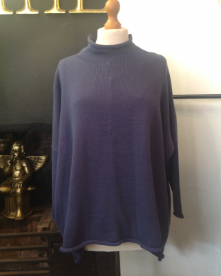 Stand up polo neck sweater 2