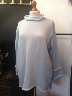 Polo Neck Fine Weight Sweater
